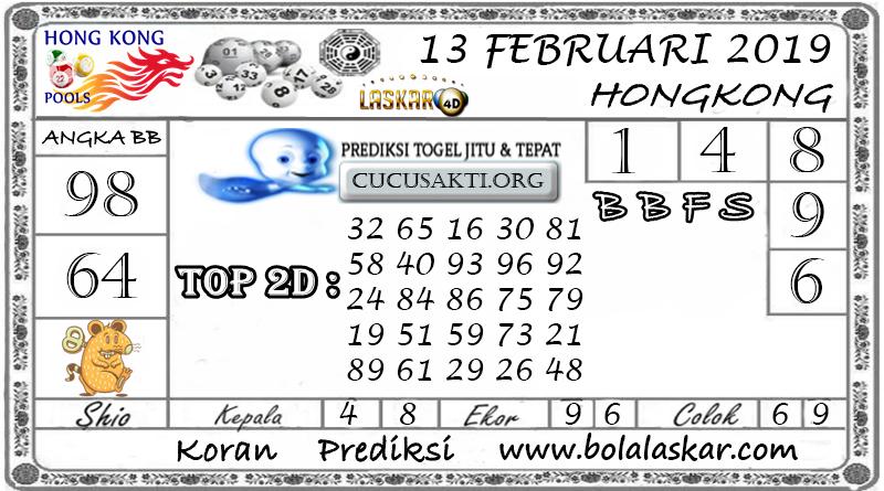 Prediksi Togel HONGKONG LASKAR4D 13 FEBRUARI 2019