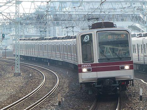 東京メトロ日比谷線 東武伊勢崎線直通 普通 竹ノ塚行き6 東武20000系LED車