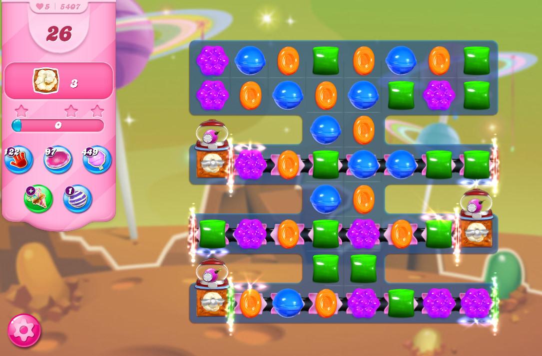 Candy Crush Saga level 5407