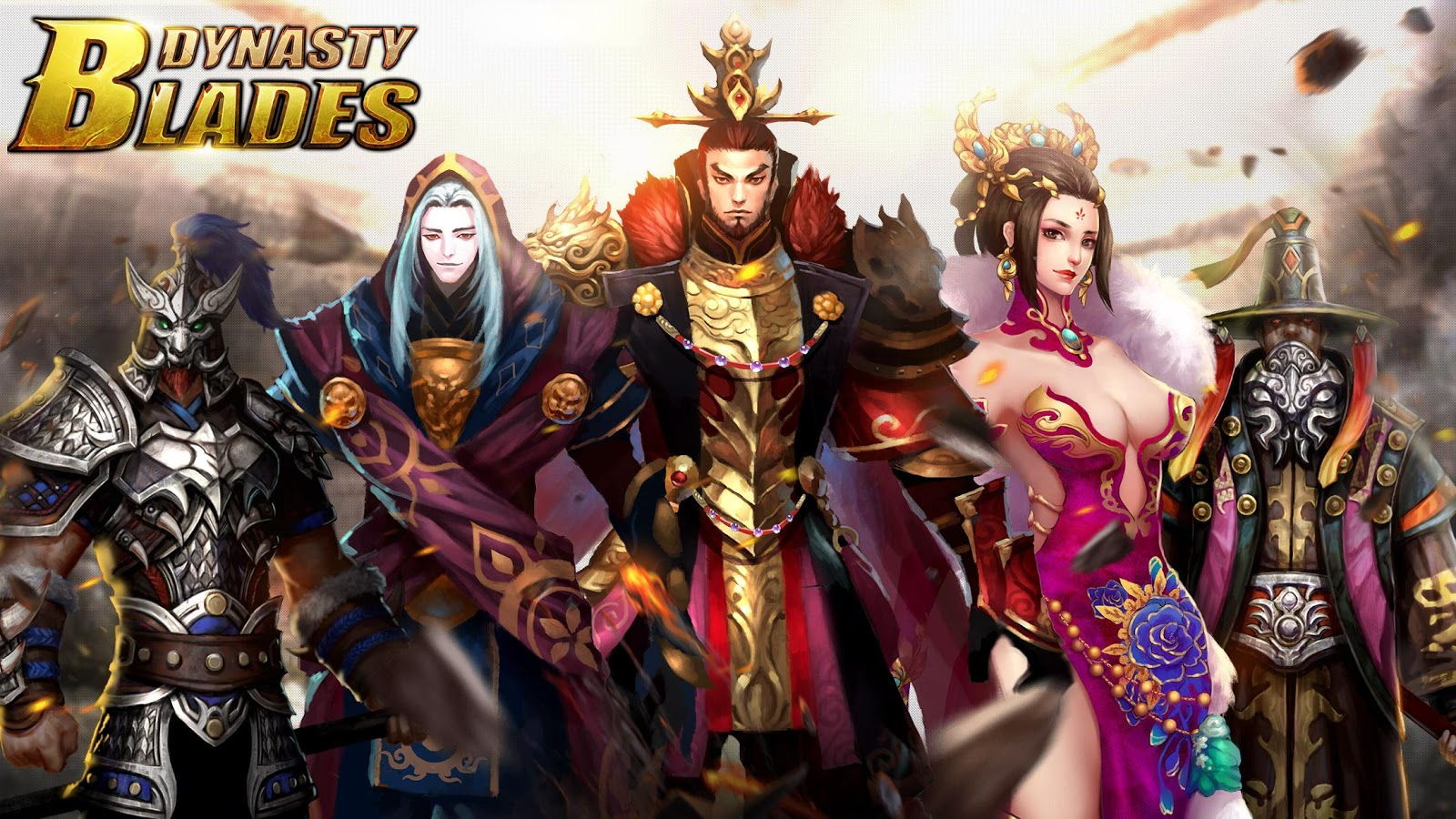 Dynasty Blades Warriors MMO MOD APK terbaru