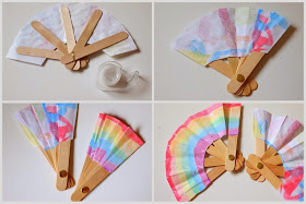 Steps to make DIY Folding Popsicle Stick Fan