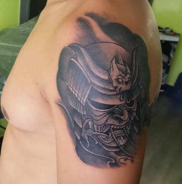 9bb3b27b8f774 14. Honestly I never heard of an evil Samurai. But their mask are very  similar to devil's face. Samurai Tattoo