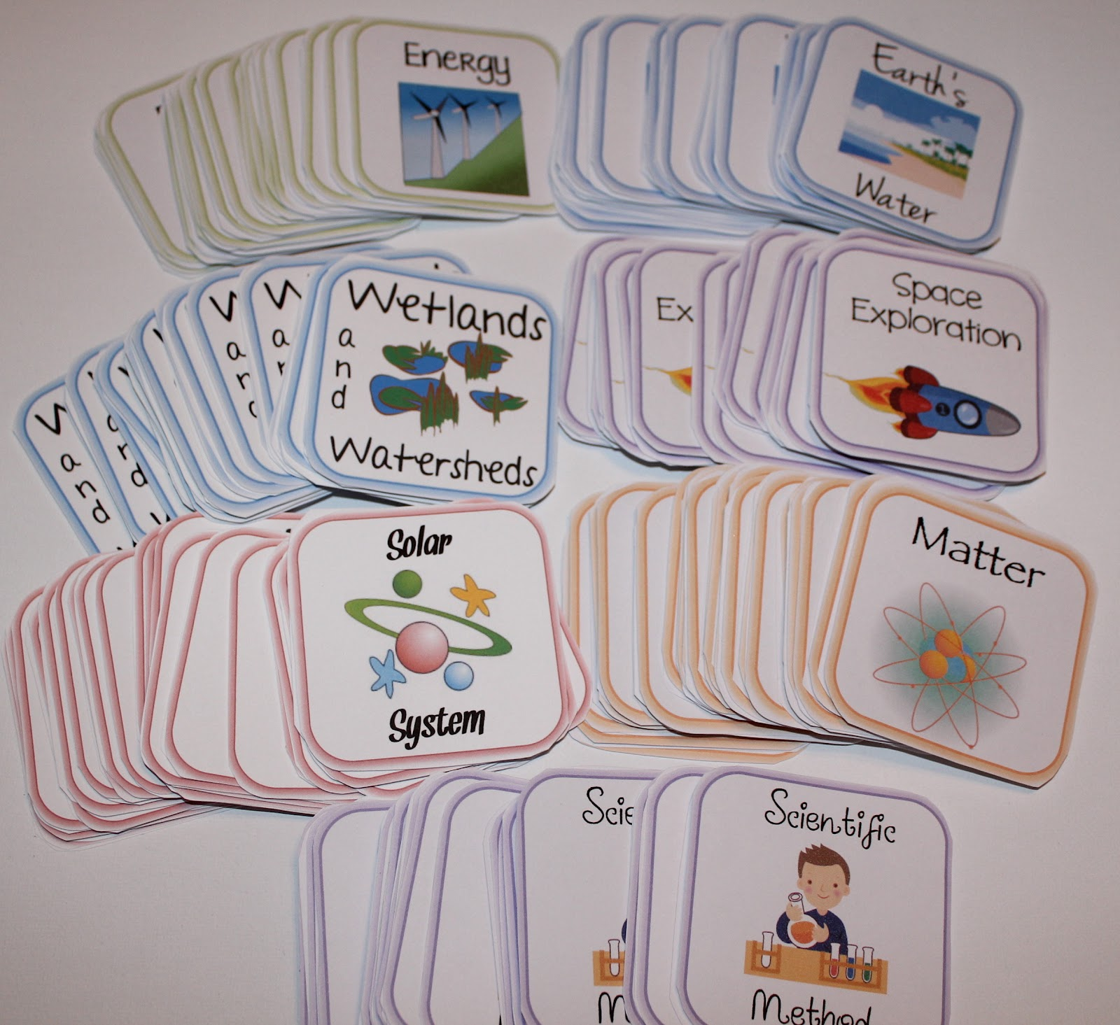 Tween Teaching Science Matching Game Cards
