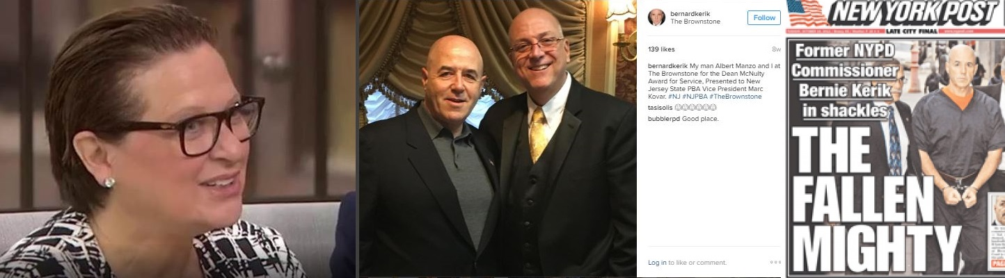 Apparently Feigning Cancer for Ratings, Caroline Manzo forgets Best Friend Felon Bernard Kerik went to Prison