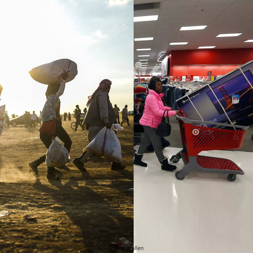 Powerful Pictures Show The Shocking Contrast Between The Two Worlds On Our Planet
