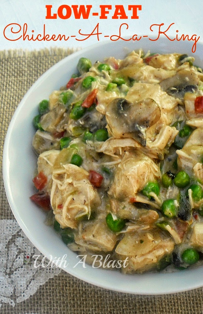 Chicken A La King {Low-Fat} ~ So tasty, no one will know this is a healthy, low fat version of this very popular dish #Healthy #LowFat #ChickenRecipe