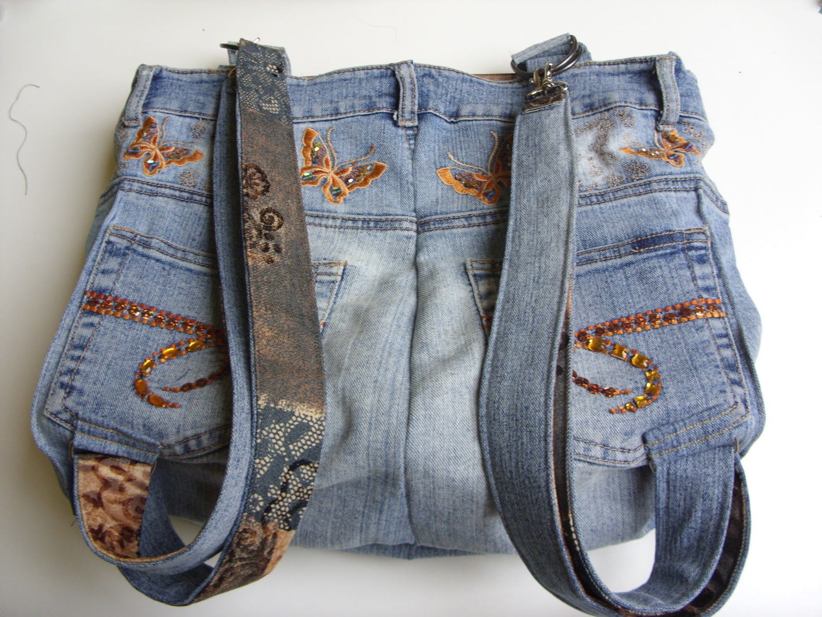willkommen bei frauhohmann luxus rucksack handtasche aus jeanshose. Black Bedroom Furniture Sets. Home Design Ideas