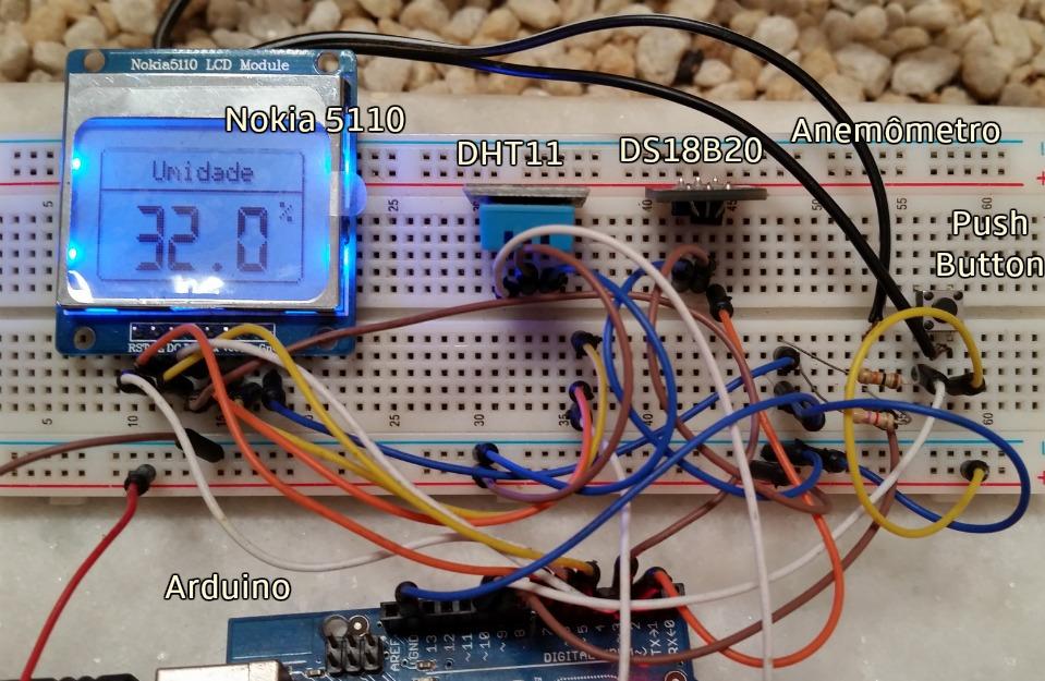 Mini estação meteorológica com arduino