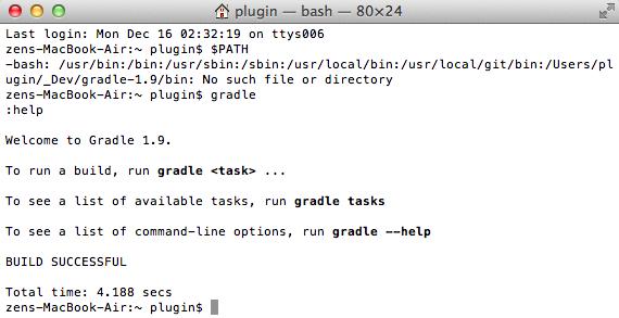 Dinis Cruz Blog: Installing Gradle on OSX
