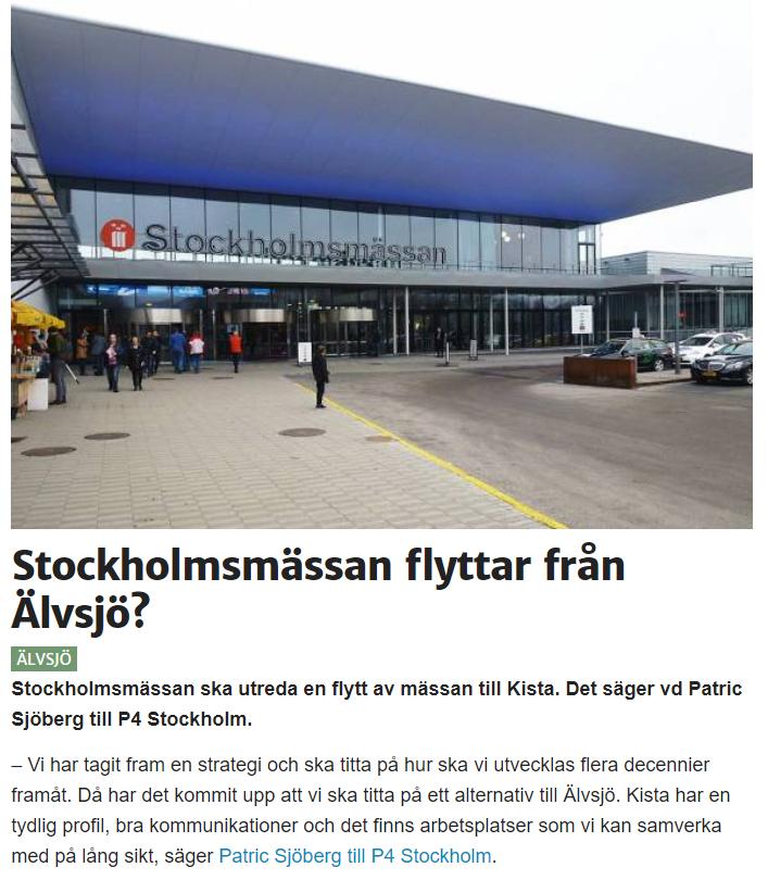 Karta Stockholmsmassan.Stadsutvecklingen Sodertornsmassan Den Nya Stockholmsmassan