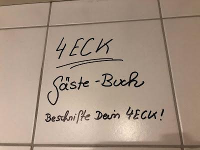 Gästebuch 4Eck, 4Eck, Restaurant Garmisch, sustainable food, Eröffnung, yummy, good food, Neueröffnung, Uschi Glas, Kerstin Schumann Ishizuka, Sven Karge, Chef, Küchenchef, echt coole Küche, echt lecker