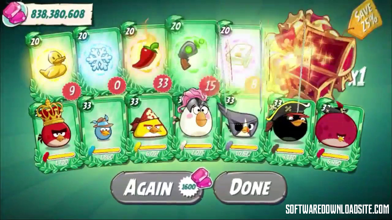 Angry Birds 2 Unlimited Gems iOS