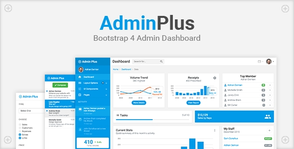 download AdminPlus - Bootstrap 4 Admin Dashboard