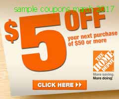 Home Depot coupons for march 2017