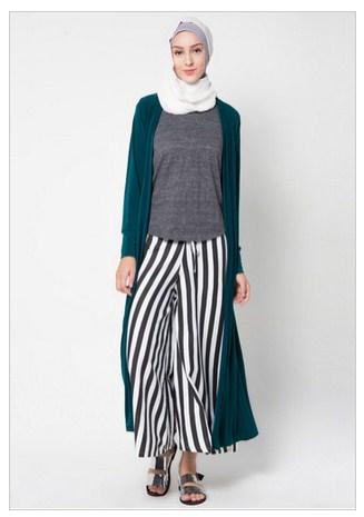 Model Baju Muslim Rompi Panjang Modern Terbaru