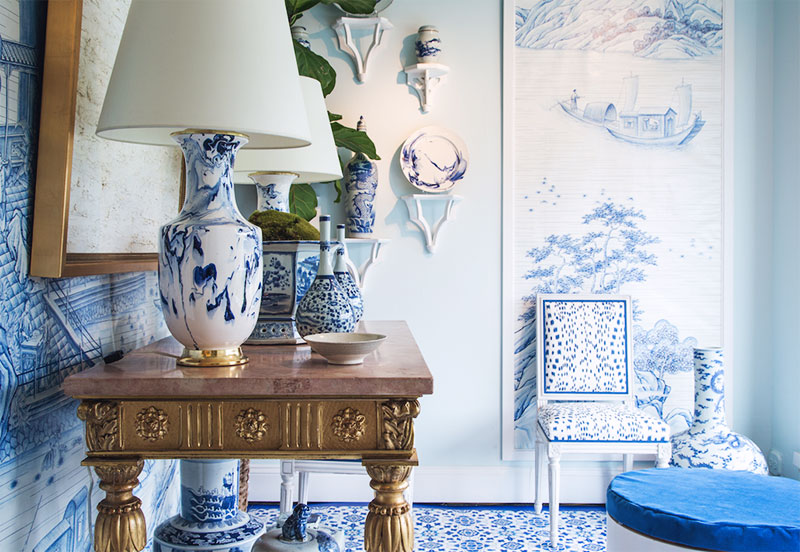 Toile de Gournay  Mark D Sikes Interiors {Cool Chic Style Fashion}