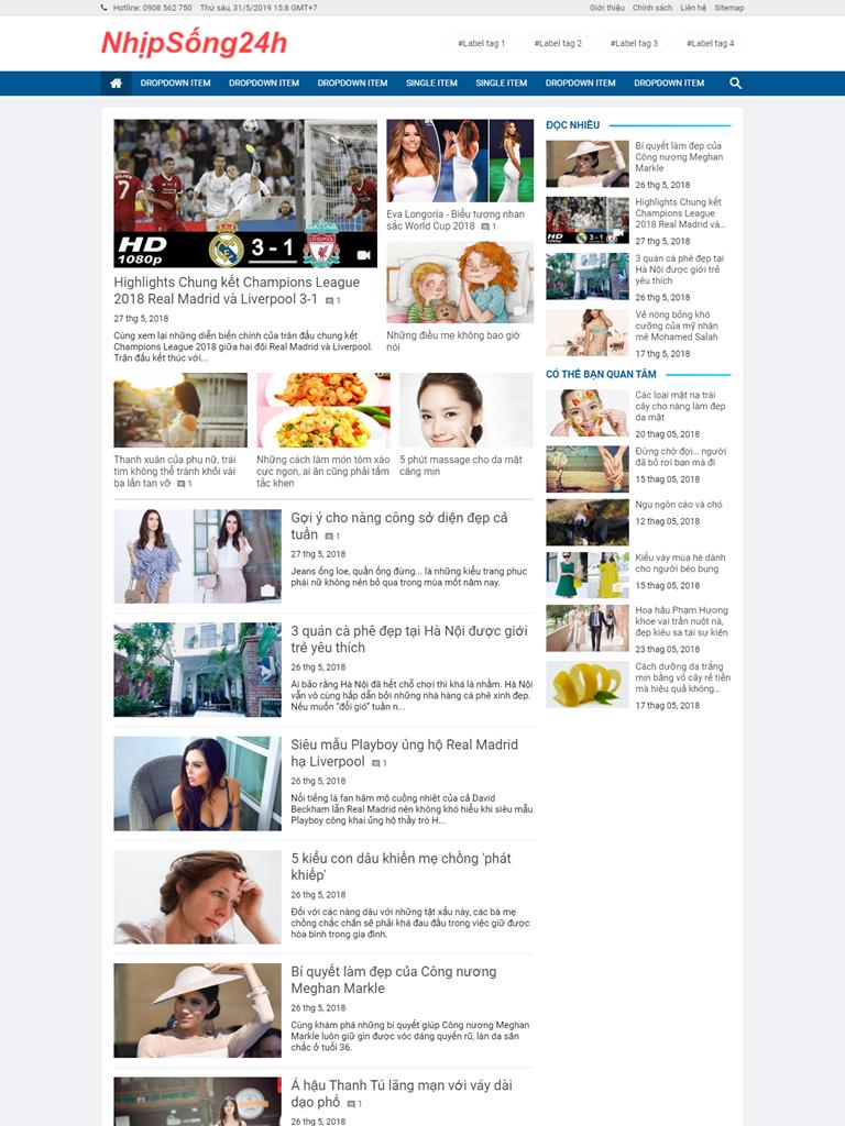 Việt Blogger Magazine Style 2 - Ảnh 1