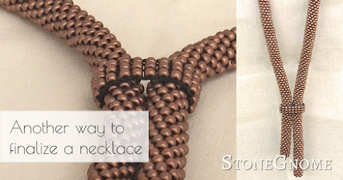 Another way to finalize a necklace