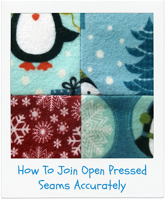How To Join Open Pressed Seams by www.madebyChrissieD.com