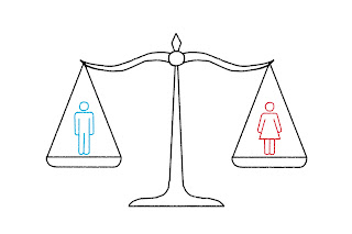 Man en vrouw zijn evenwaardig.
