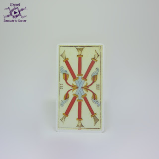 Tarot de Marseille (Heron) - 3 of Batons