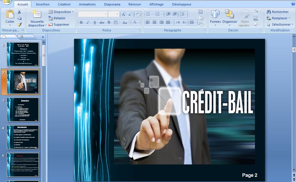 1 - Exposé sur le crédit-bail