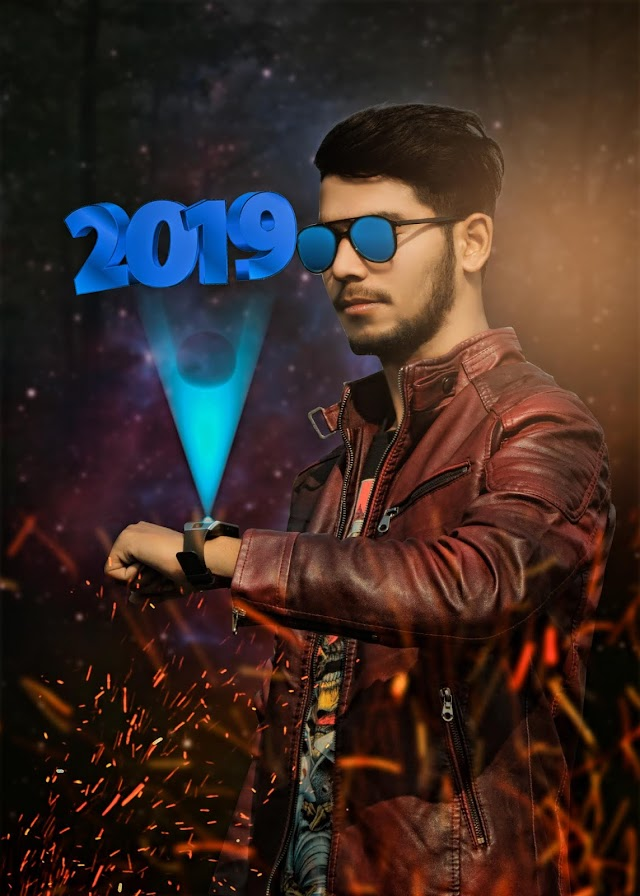 #2019 Photoshop Photo Editing Tutorial Hologram Effect Easy { HINDI & URDU}