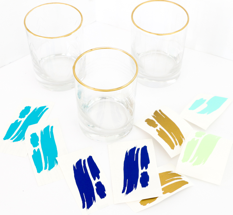 A Kailo Chic Life DIY It Brushstroke Glasses - Vinyl cup brush