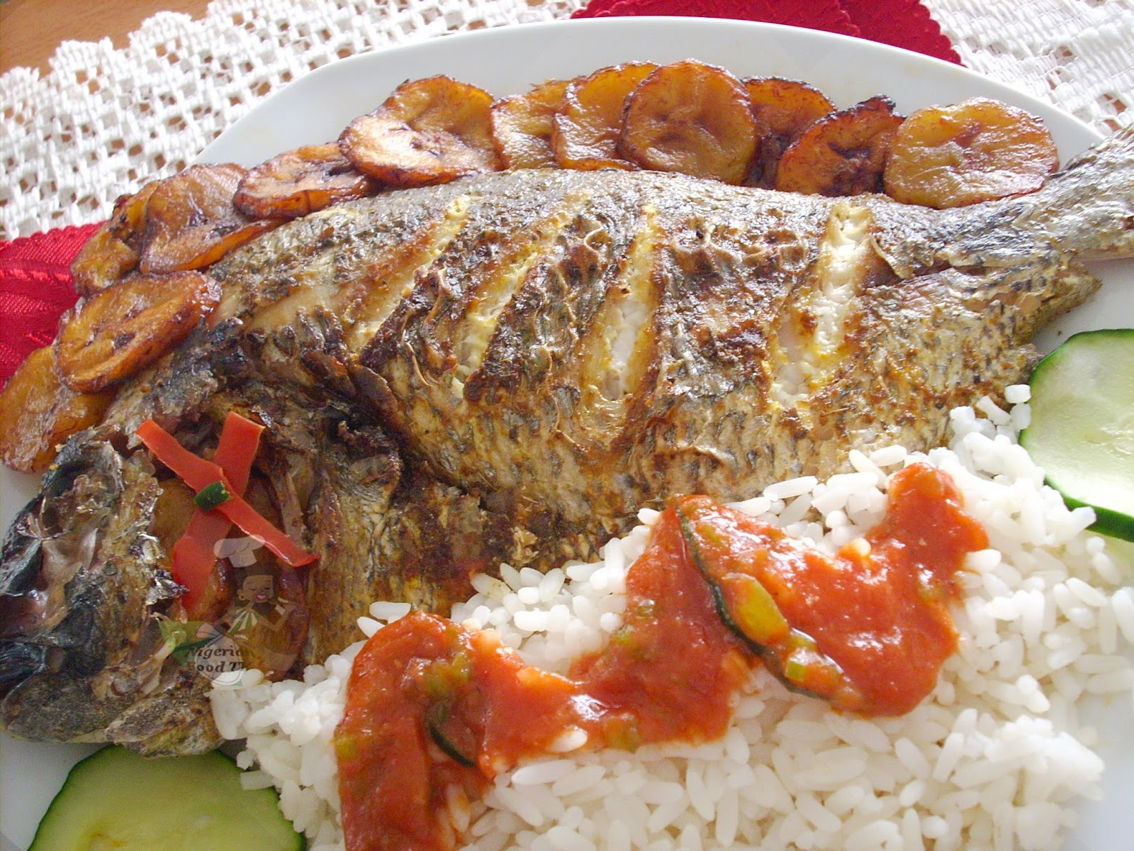 Nigerian Grilled Tilapia Fish Recipe