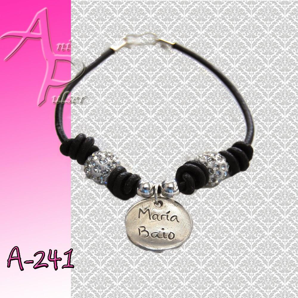 04561274933d A-241 Pulsera plata personalizada con nombres para mamá y abuela ...
