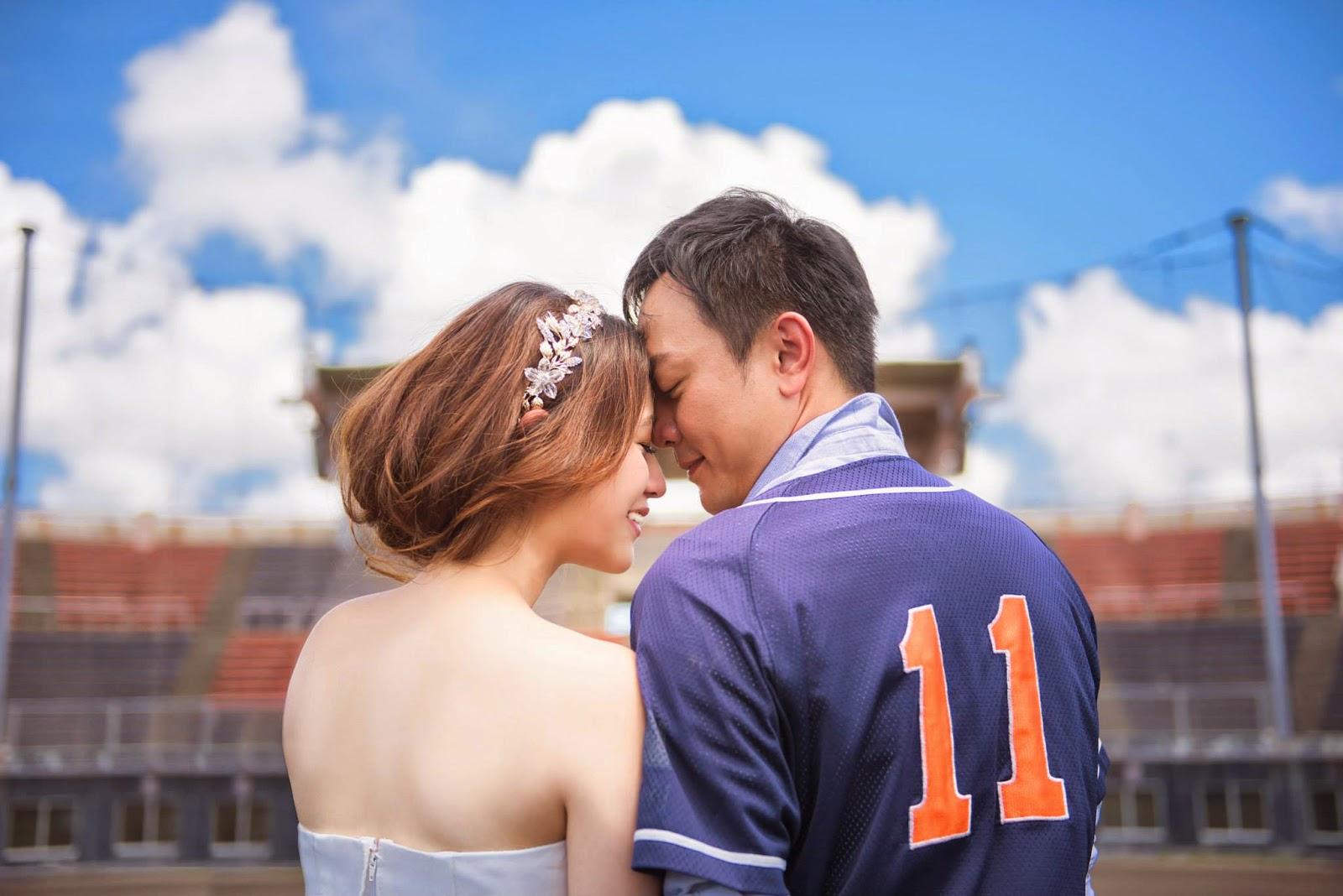 棒球場婚紗