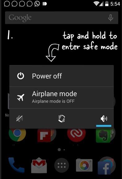 Hasil gambar untuk Masuk ke Safe Mode android