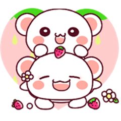 Fluffy Bear Pink color both thoughts