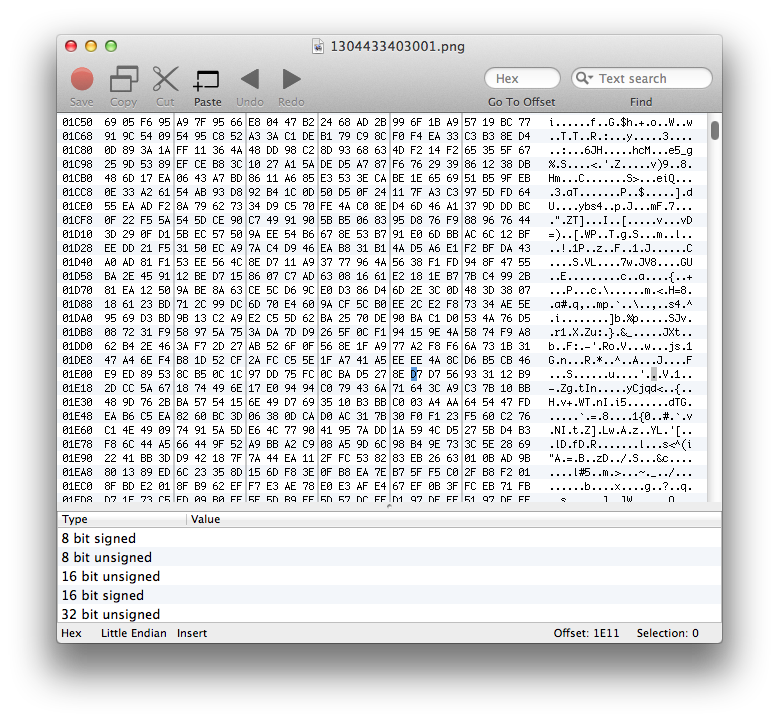 mac and i: 0xED - native OS X hex editor