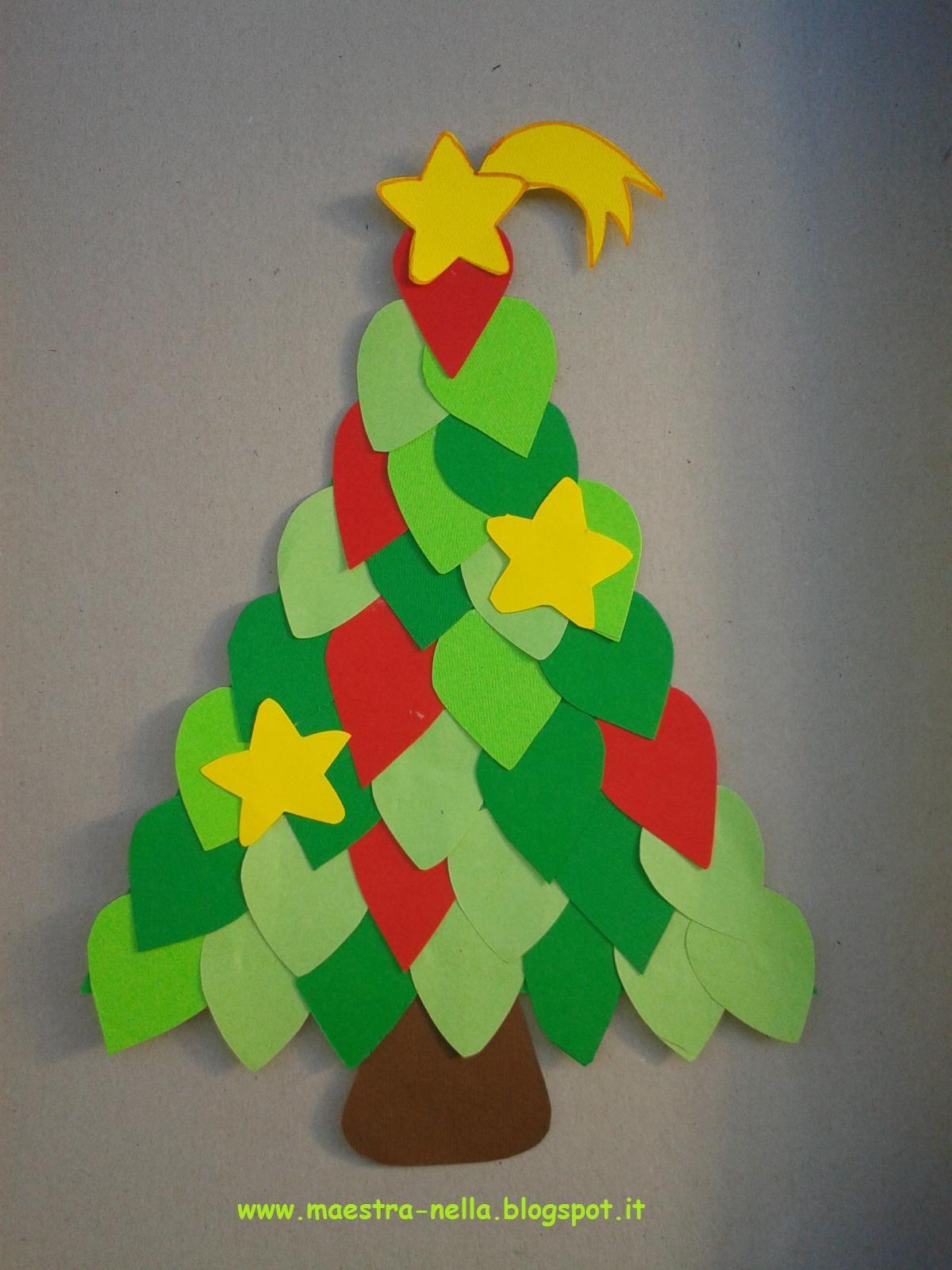 Maestra nella alberelli di natale for Addobbi natalizi per la classe