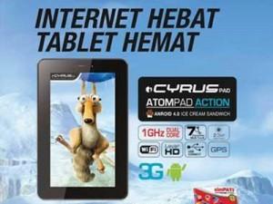 Cyrus Atom Action HD, Tablet Layar 7 Inci Spesifikasi Menarik Harga Rp. 1 jutaan