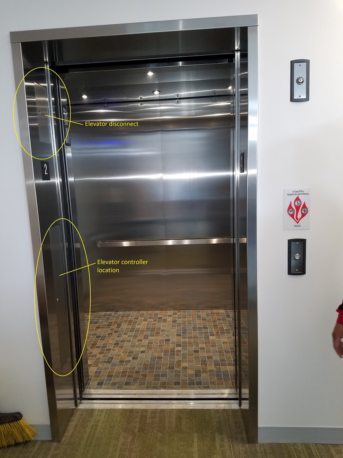 [Typical Elevatoru0027s Have A Machine Room Where The Controller And Mainline  Disconnect Would Be Located. This Elevator Has It In The Door Frame]