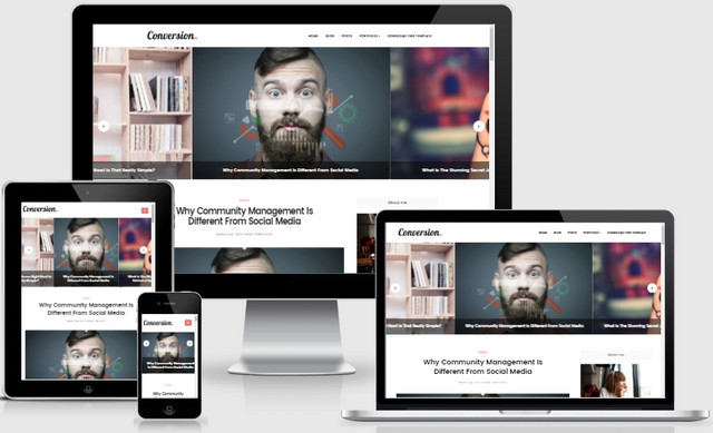 Conversion Responsive Blogger Templates
