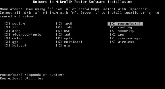 cara install mikrotik routerOS