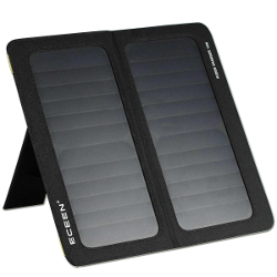 ECEEN® 13W Solar Charger Foldable Portable Solar Panel With Dual USB Output Charge for Iphones, Smartphones, Tablets, GPS Units, Bluetooth Speakers, Gopro Cameras, And other 5V USB-Charged Devices