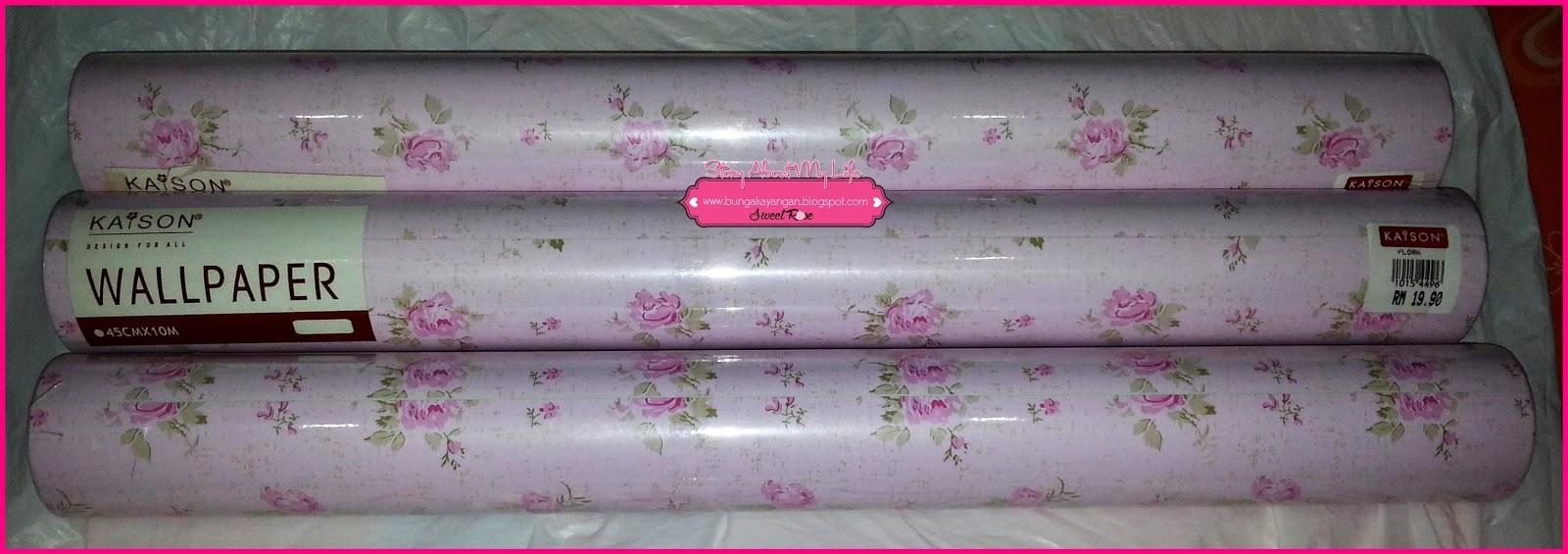 Sebab Dalam Pikiran Hanya Pikir Nak Warna Ala Pink Yang Jadi Pilihan Misi Pasang Wallpaper Ni Kat Dinding Ruang Belajar Dan Bilik Tidur Utama