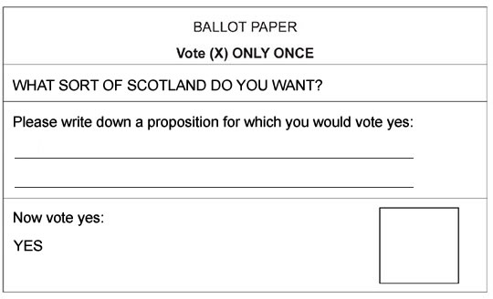 dhothersall Yes campaign launches The Magic Ballot