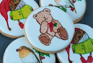 Galletas decoradas con pincel