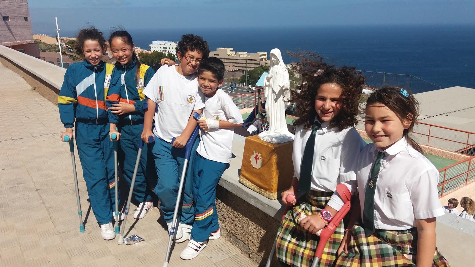 Gospa peregrina reina de la paz visita colegio adonai - Colegio aparejadores tenerife ...
