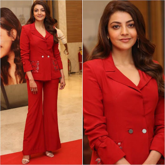 Slay or Nay: Kajal Aggarwal in Nikita Mhaisalkar for the Trailer Launch of Kavacham in Hyderabad