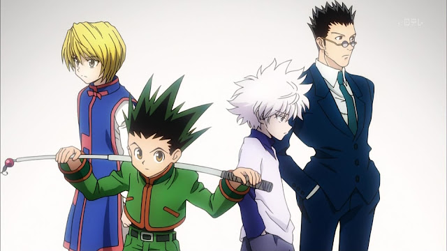 wallpaper hunter x hunter gon, killua, kurapika, leorio