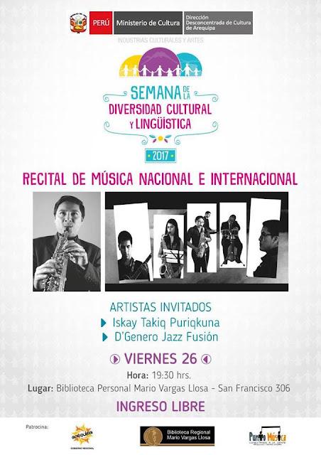 Recital de Música, Nacional e Internacional
