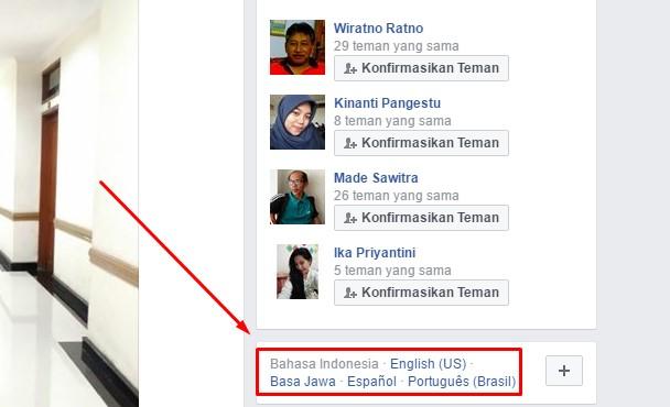 Cara Mengganti Bahasa di Facebook