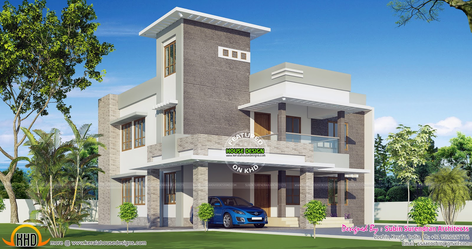 2571 sq ft 4 bhk modern house kerala home design and for 4 bhk home design