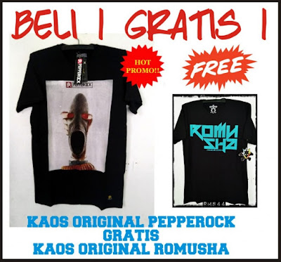 [Buy 1 Get 1 Free] Kaos Baju Distro Pepperock Original, Kode PPR03